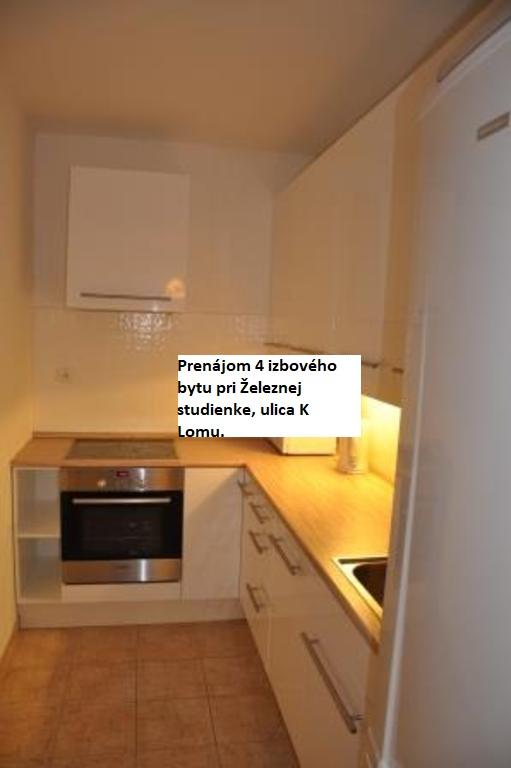Prenájom 4 izbového mezonetového bytu pri Železnej studienke, ulica K Lomu.  Byt je o rozlohe cca 102 m2 nachádza sa na 2 a 3 poschodí.
