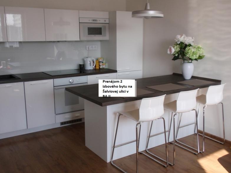 Ponukame Vam do prenajmu slnečný 2 izbový byt s veľkým balkónom a s pekným výhľadom v tichej časti Ružinova, Šalviová ul
