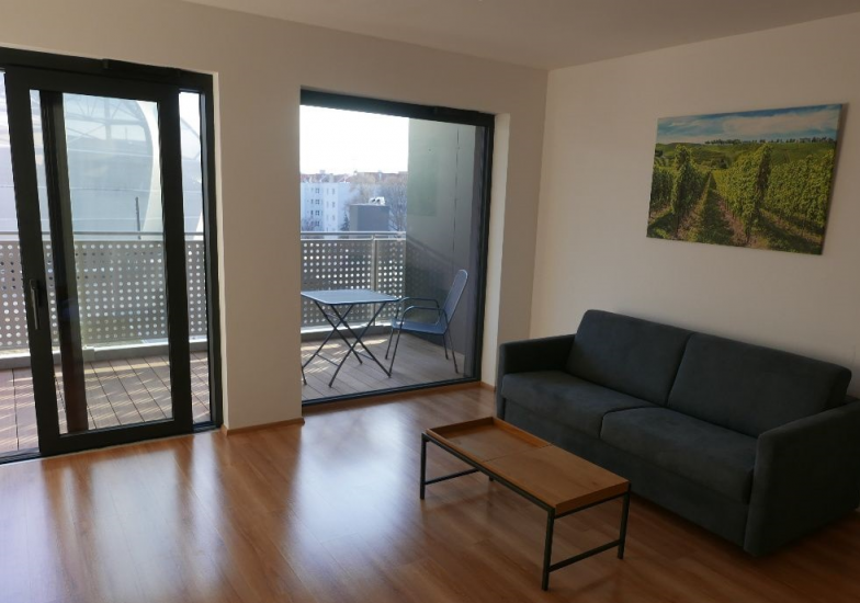 Prenájom pekný a doteraz neobývaného 1.-izbového slnečného bytu v novostavbe Tehelné pole, Bratislava Nové Mesto.Bajkalská, Bratislava III - Nové Mesto